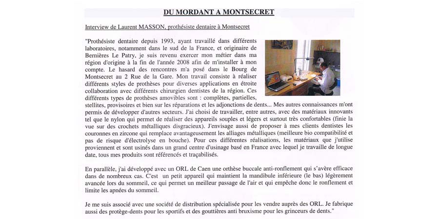Interview Laurent Masson